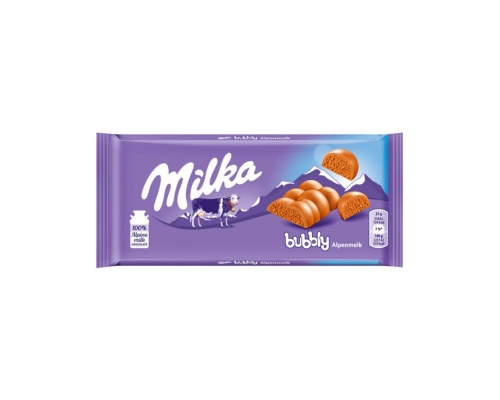 Chocolate Bubbly Leche Milka 90 Gr