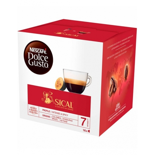 Cápsulas Café Dolce Gusto Sical Nescafé 16 Un