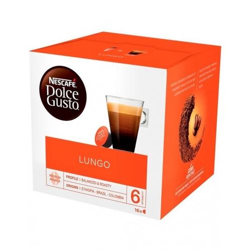 Cápsulas Café Dolce Gusto Lungo 16 Un