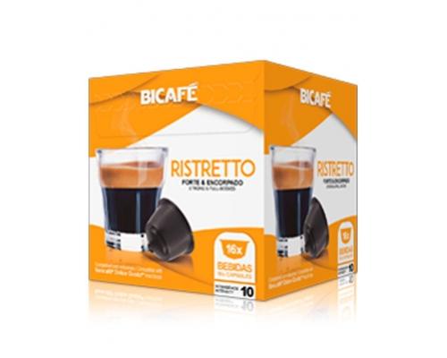 Cápsulas Compatíveis Dolce Gusto Ristretto Café Bicafé 16 Un