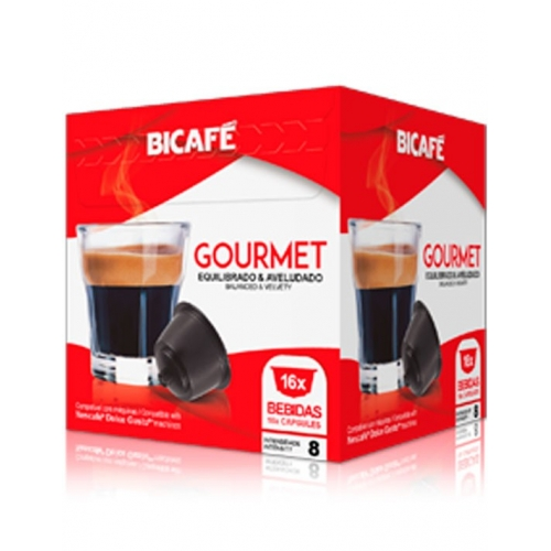 Cápsulas Compatibles Dolce Gusto Gourmet Café Bicafé 16 Un