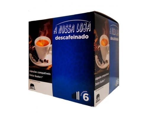 Cápsulas Compatíveis Dolce Gusto Descafeinado Café A Nossa Loja 16 Un