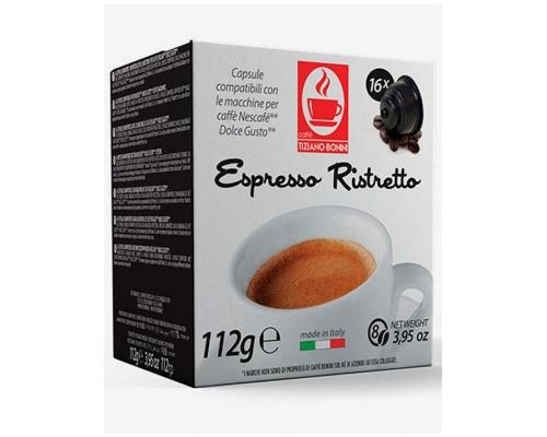 Cápsulas Compatibles Dolce Gusto Bonini Espresso Ristretto 16 Un