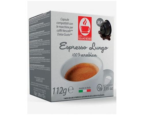 Cápsulas Compatíveis Dolce Gusto Bonini Espresso Lungo 16 Un