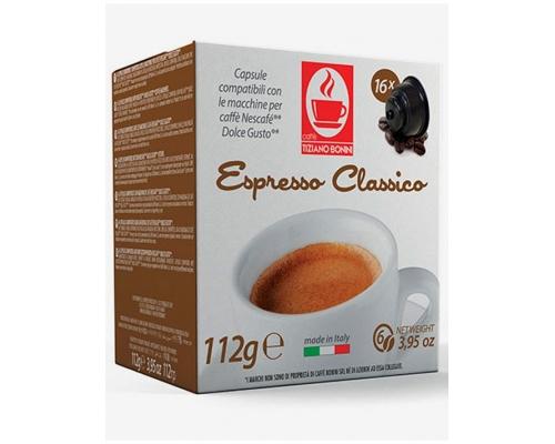 Cápsulas Compatibles Dolce Gusto Bonini Espresso Classico 16 Un