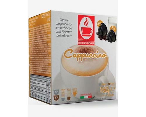 Cápsulas Compatíveis Dolce Gusto Bonini Cappuccino 16 Un
