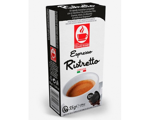 Cápsulas Compatibles Nespresso Café Bonini Ristretto 10 Un