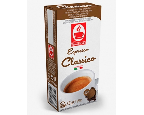 Cápsulas Compatíveis Nespresso Café Bonini Classico 10 Un