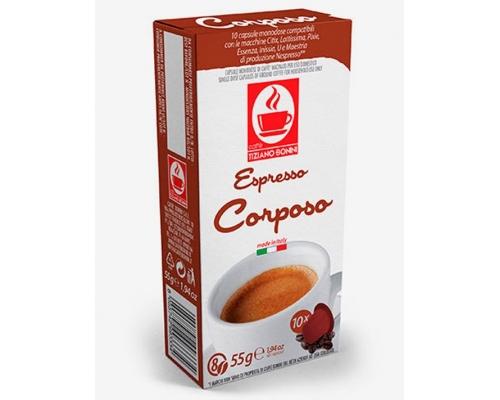 Cápsulas Compatibles Nespresso Café Bonini Corposo 10 Un