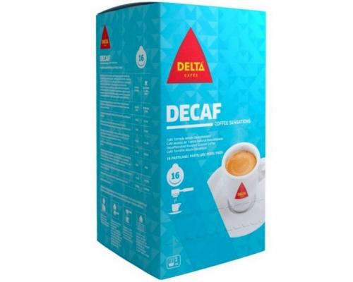 Pastilhas Descafeinado Decaf Delta Café 16 Un.