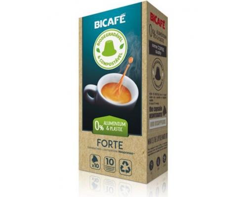Cápsulas Biodegradables Nespresso * Forte Café Bicafé 10 Un