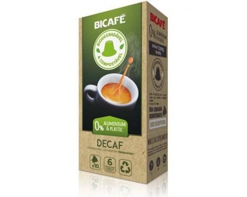 Cápsulas Biodegradáveis Nespresso * Descafeinado Café Bicafé 10 Un