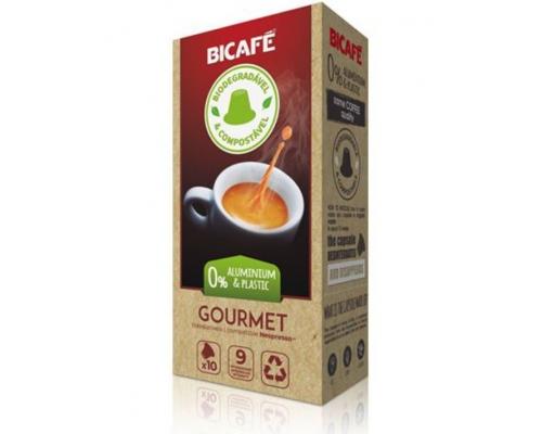 Cápsulas Biodegradáveis Nespresso * Gourmet Café Bicafé 10 Un