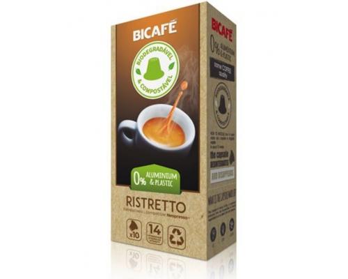 Cápsulas Biodegradables Nespresso * Ristretto Café Bicafé 10 Un