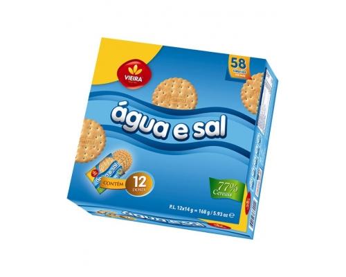 Bolachas Agua e Sal Vieira 12 x 14 Gr